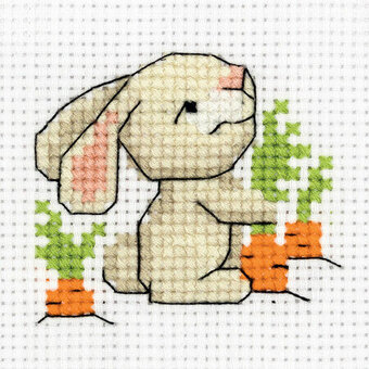 Bunny with a Carrot - Cross Stitch Kit