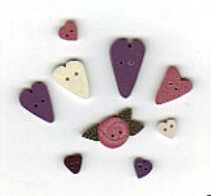 Scatter Hearts Buttons