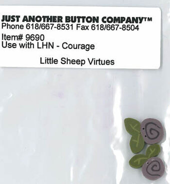 Little Sheep Virtues 4 Courage - Button