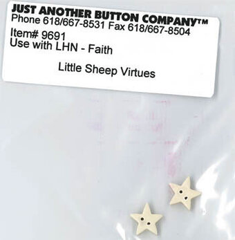 Little Sheep Virtues Faith - Button