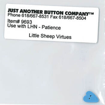 Little Sheep Virtues 7 - Patience - Button