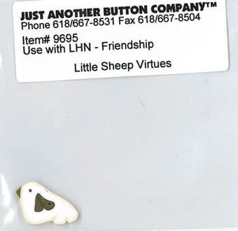 Button for Little Sheep Virtues 9 Friendship
