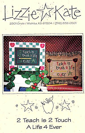 2 Teach is to Touch - Cross Stitch Pattern