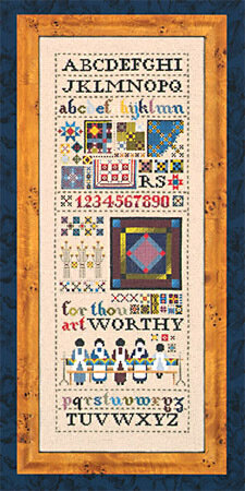 Amish Quilt Sampler - Cross Stitch Pattern