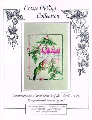 Ruby Throated Hummingbird '99 - Cross Stitch Pattern