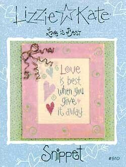 Love Is Best - Cross Stitch Pattern