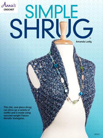 Annies Attic Simple Shrug Crochet Pattern 885231 123stitch