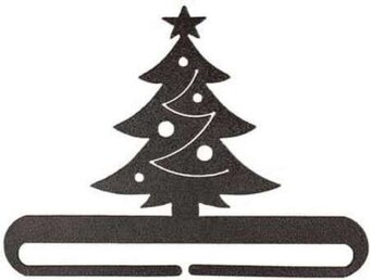 "6"" Christmas Tree Split Bottom Holder - Charcoal"