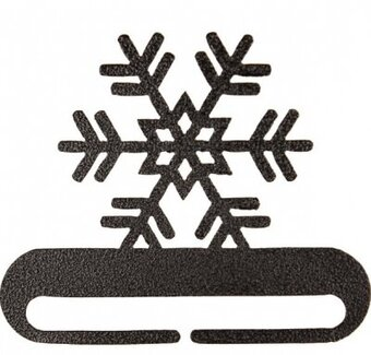 "8"" Snowflake Split Bottom Charcoal"