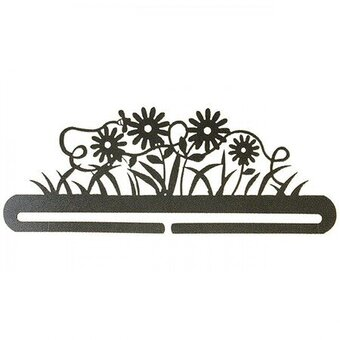 "12"" Daisy and Bee Split Bottom Charcoal Hanger"