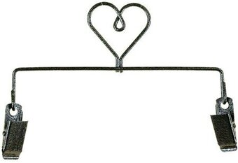 "6"" Heart Clip Holder Charcoal"