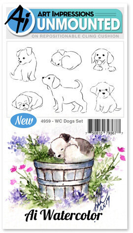 Watercolor Dogs - Cling Stamp Set