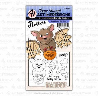 Bat Flutter - Halloween Clear Stamps and Dies