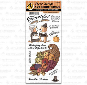 Grateful Hearts - Thanksgiving Clear Stamp