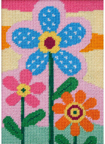 Three Flowers - Needlepoint Kit
