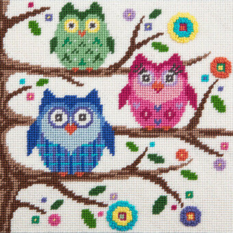 Owls - Canoodles Needlepoint Kit