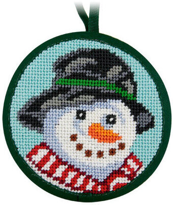 Snowman Christmas Ornament - Needlepoint Kit