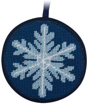 Snowflake Christmas Ornament - Needlepoint Kit