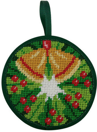 Christmas Wreath Christmas Ornament - Needlepoint Kit