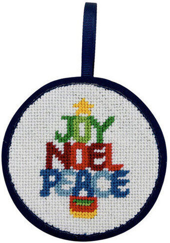 Christmas Word Tree Christmas Ornament - Needlepoint Kit