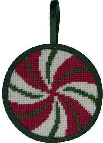 Peppermint Swirl Christmas Ornament - Needlepoint Kit