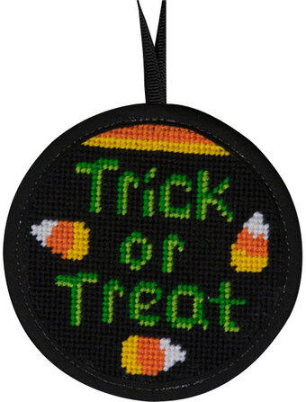 Trick Or Treat Halloween Ornament - Needlepoint Kit