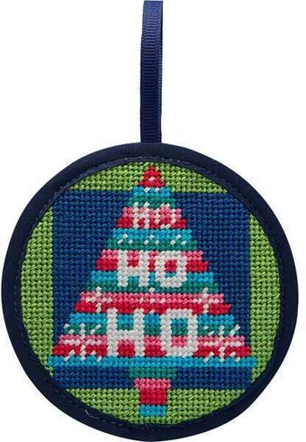 Ho Ho Ho Tree Christmas Ornament - Needlepoint Kit