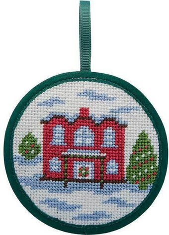 Red House Christmas Ornament - Needlepoint Kit