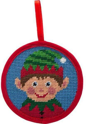 Boy Elf Christmas Ornament - Needlepoint Kit