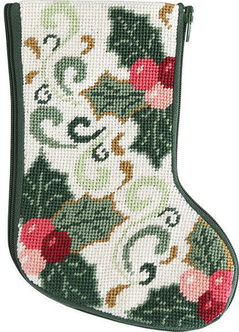 Della Robbia Mini Christmas Stocking - Needlepoint Kit
