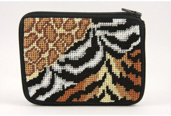 Coin Purse - Animal Skins - Needlepoint Kit