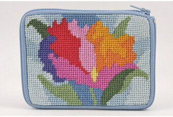 Coin Purse - Watercolor Poppy - Needlepoint Kit
