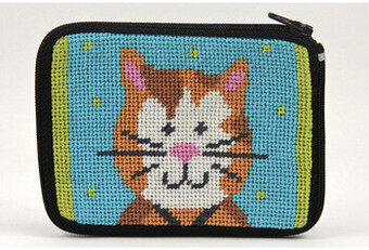 Coin Purse - Cat - Needlepoint Kit