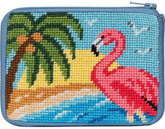 Coin Purse - Flamingo - Needlepoint Kit