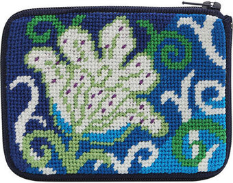 Coin Purse - White Tulip - Needlepoint Kit