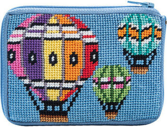 Coin Purse - Balloons in Flight - Needlepoint Kit