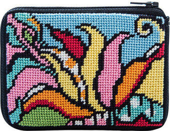 Coin Purse - Modern Tulip - Needlepoint Kit