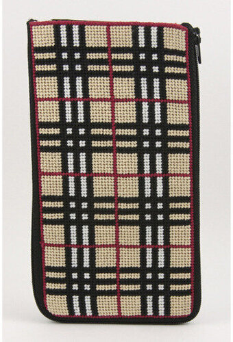 Eyeglass Case - Plaid - Needlepoint Kit