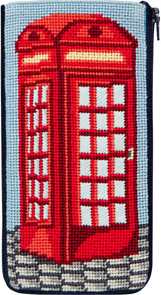 Eyeglass Case - English Phone Booth - Needlepoint Kit