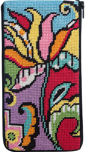 Eyeglass Case - Modern Tulip - Needlepoint Kit