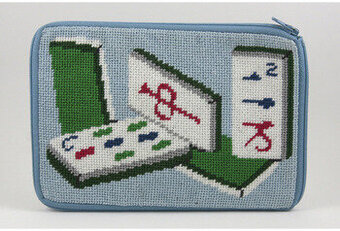 Cosmetic Purse - Mah Jong - Needlepoint Kit
