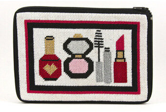 Cosmetic Purse - Make-Up and Things - Needlepoint Kit