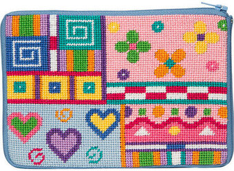 Cosmetic Purse - Patchwork - Needlepoint Kit