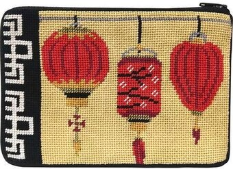 Cosmetic Purse - Chinese Lanterns - Needlepoint Kit