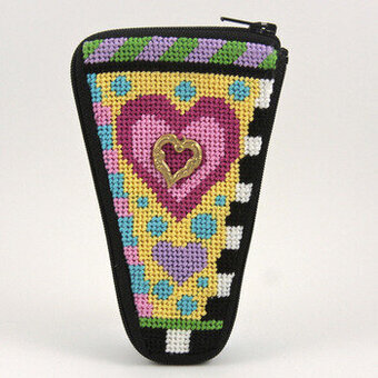 Scissor Case - Heart - Needlepoint Kit