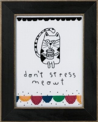 Don't Stress Meowt (Amylee Weeks) - Beaded Cross Stitch Kit