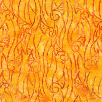 Batik 100% Cotton Fabric Fat Quarter - Carrot