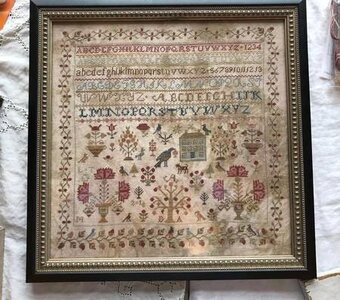 Merrily Merrily We Welcome Spring Sampler - Cross Stitch