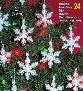Mini Snowflakes Beaded Christmas Ornament Kit