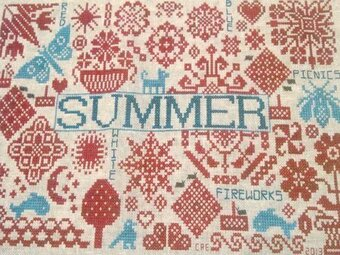 Quaker Seasons Summer - Cross Stitch Pattern
